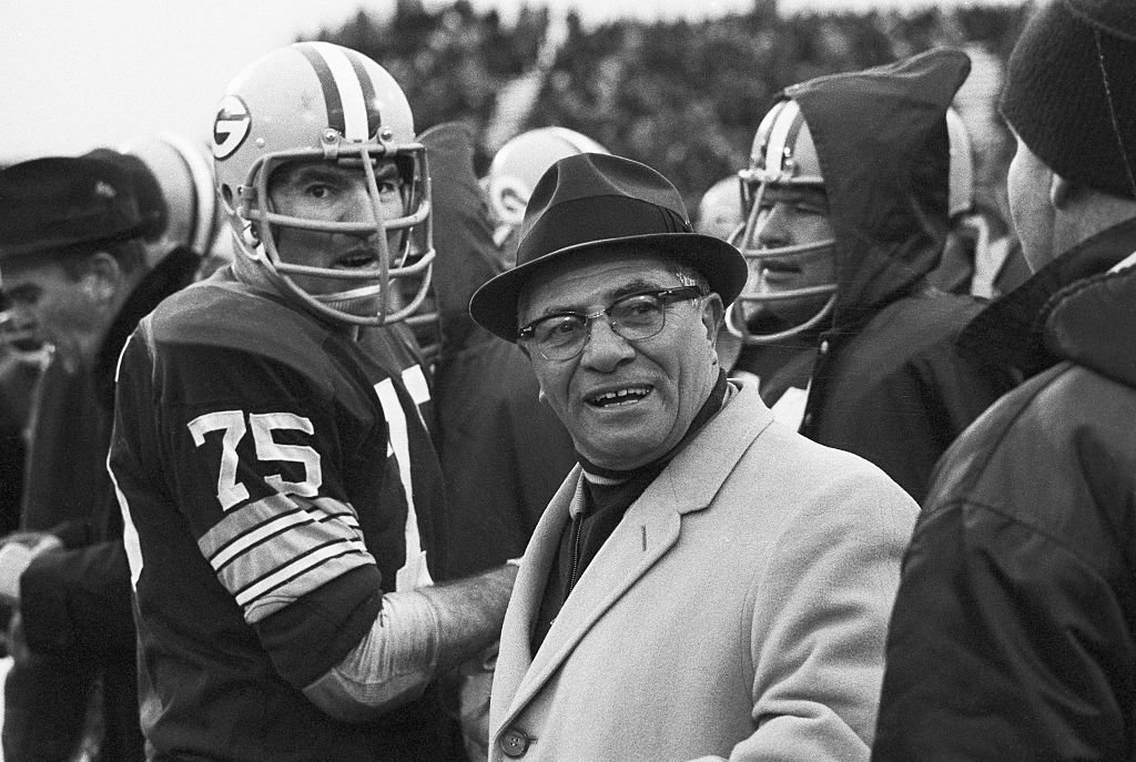 No one gave the Packers a chance. Except those men in Vince Lombardi's locker room. The 9-4-1 Packers hosted the 11-1-2 Rams in the 1967 Western Conference Playoff at Milwaukee County Stadium. Los Angeles had beaten the Packers 14 days beforehand. But Lombardi's motivation (based off one of St. Paul's epistles) and innovation (changing much of his offensive strategy) led to his Packers dominating Los Angeles 28-7, starting the Packers' three-game playoff run to an unmatched third straight NFL title. (Photo: Getty Images)